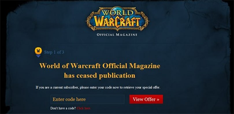 WoW Magazine ending with issue 5