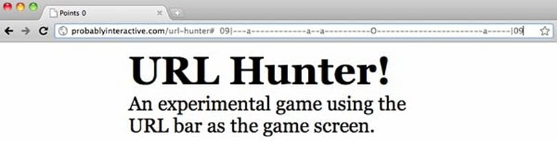 URL Hunter game takes place entirely in your browser's address bar, courtesy of HTML5