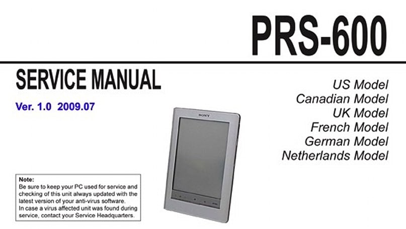 New Sony Reader PRS-300 and PRS-600 details leaked