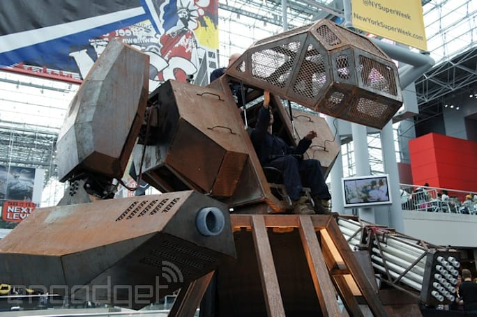 Giant American robot wants to lay the smackdown on Japanese rival