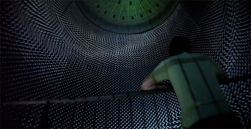 This enormous gas tank is now a wondrous, isolating work of art (video)