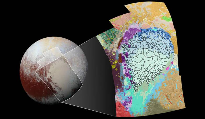 NASA maps part of Pluto's complex terrain