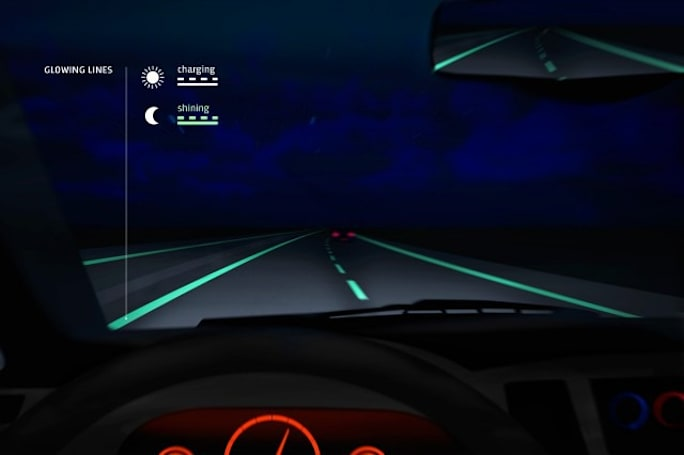Those glow-in-the-dark roads? They didn't fare well in the first public trials