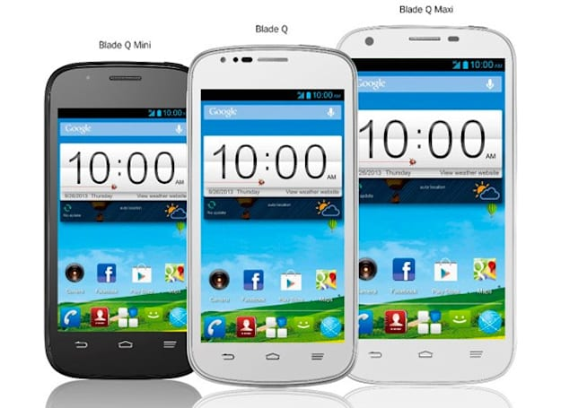 ZTE launches Blade Q smartphone line in Mini, regular and Maxi sizes