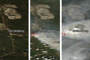 NASA Satellite Images Show How Fast Fort McMurray Fire Spread
