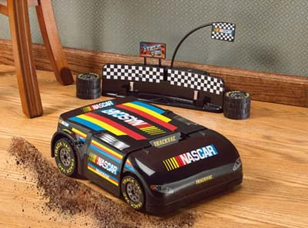 NASCAR themed Track Vac runs circles around dirt