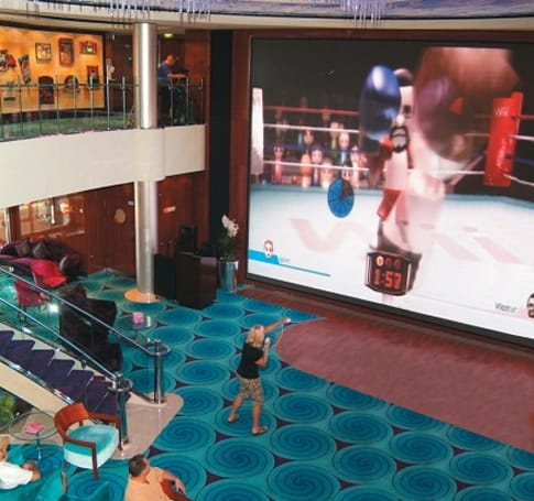 Forget relaxation, Norwegian Cruise Line offers up big screen Wii play