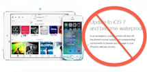 No, iOS 7 does not make your phone magically waterproof