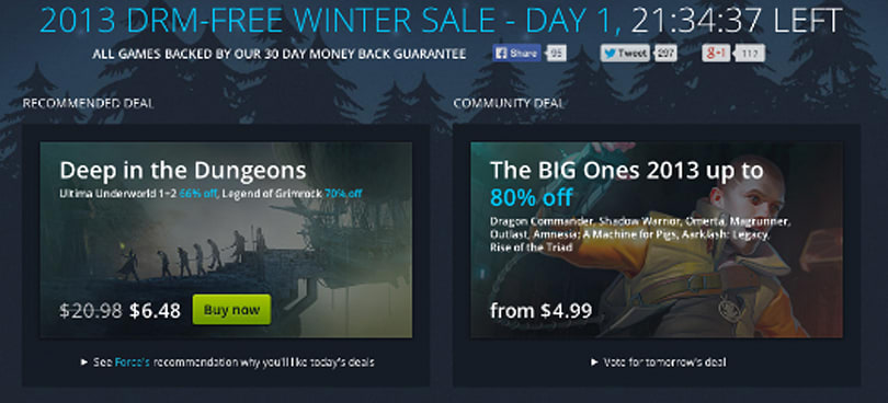Get three free Fallouts today in GOG's Winter Sale