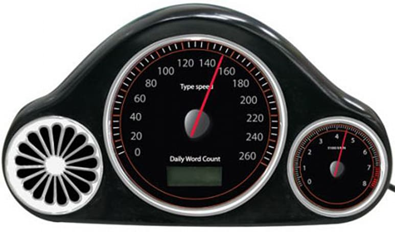 USB typing speedometer teaches Mavis Beacon a lesson in speed