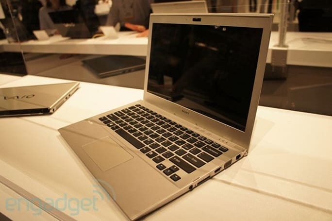 Sony shows off 13-inch VAIO Ultrabook behind glass, we go eyes-on