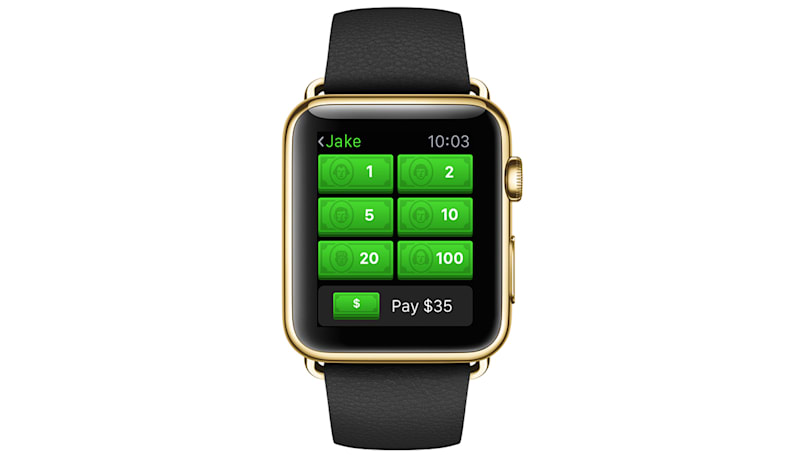 You can now send money to friends with your Apple Watch