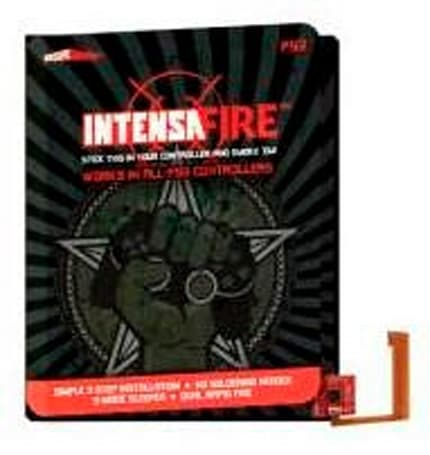 IntensaFIRE click-on mod bringing programmable / rapid fire modes to PS3 controller