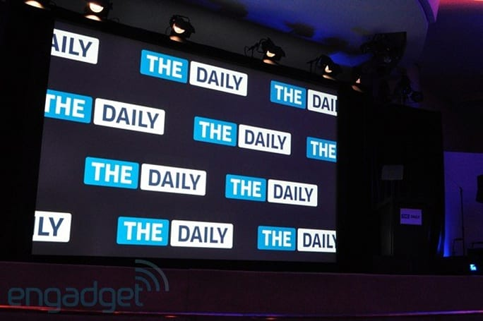 Live from The Daily launch event, with Apple's Eddy Cue