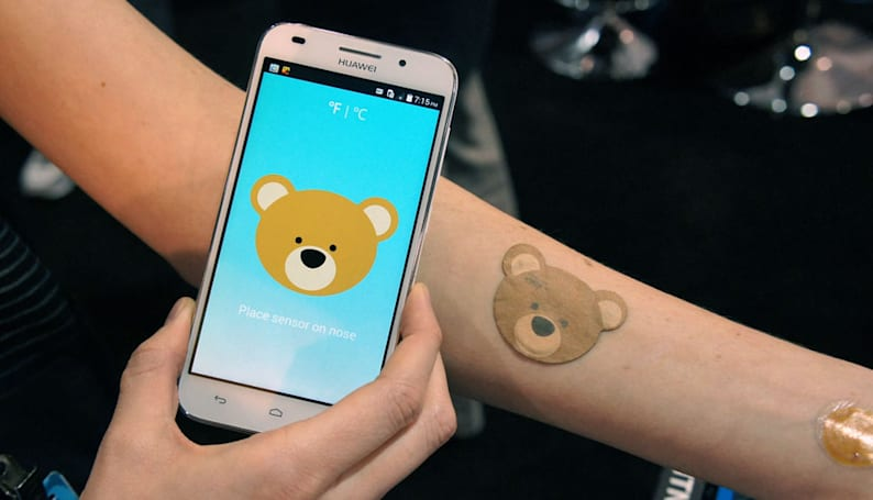 The company behind Moto's smart tattoo made an NFC baby thermometer