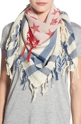 Collection XIIX 'Stars & Stripes' Square Scarf