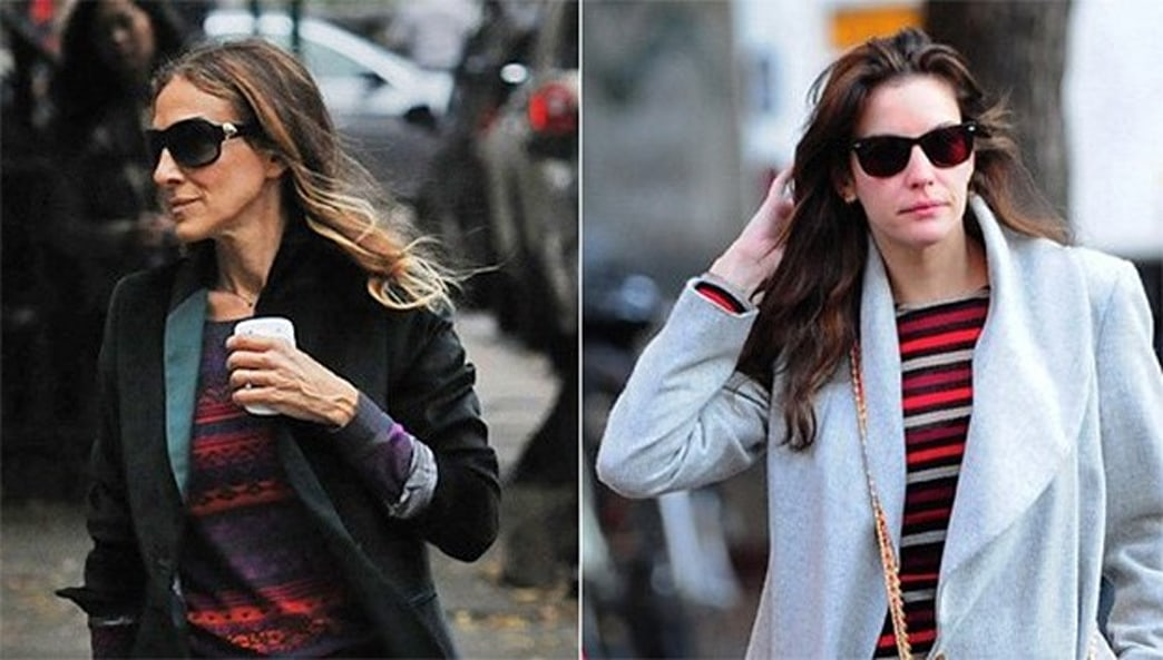 Thanks to SJP and Liv, We're Really Feeling Fall-Feeling Stripes