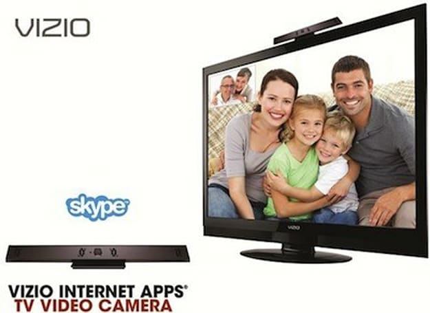 Skype videoconferencing app and add-on camera come to Vizio Internet Apps HDTVs