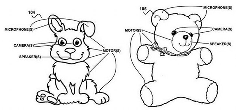 Google patents creepy smart toys that interact with kids