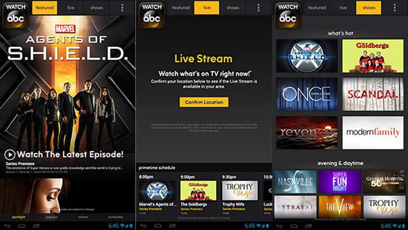 Watch ABC brings its mobile TV service to Android phones