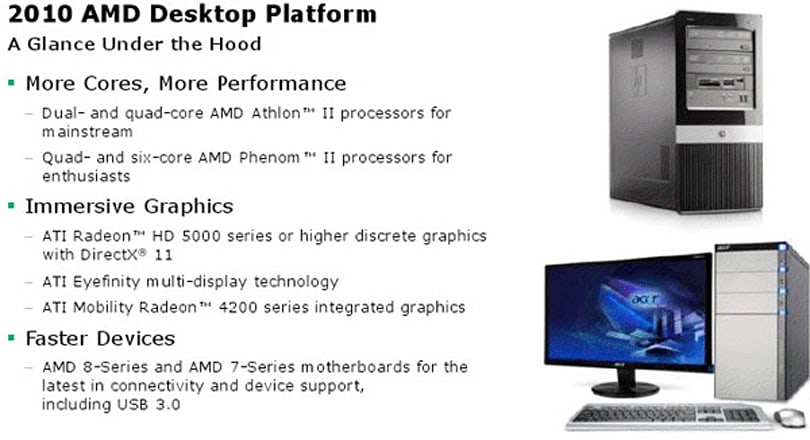 AMD comes real clean with 2010 desktop platform: Phenoms, Athlons, Radeons, oh my!