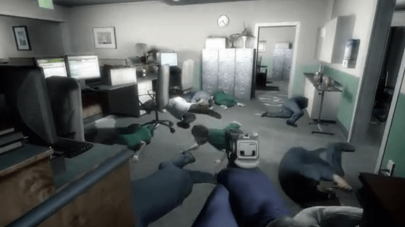 Payday's bank robbers take over Left 4 Dead's Mercy Hospital