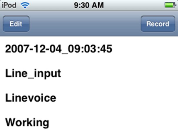 Follow-up: Recording Voice on the iPod Touch