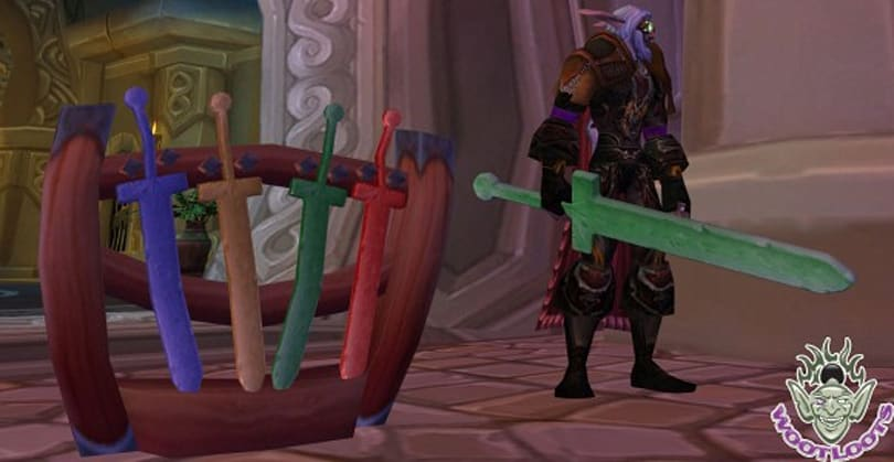 12 Days of Winter Veil Giveaway: Foam Sword Rack from WootLoots.com