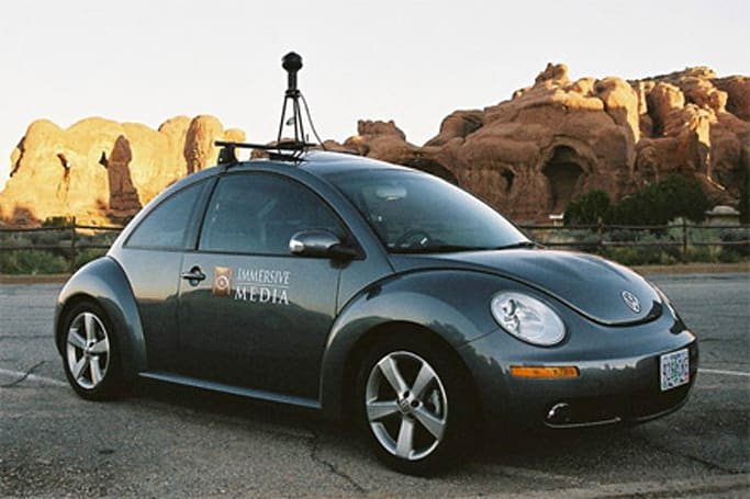 Check out the Immersive Media street-scanning car