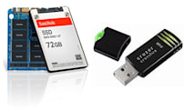 SanDisk announces 72GB(?!) SSD, 8GB Cruzer Crossfire