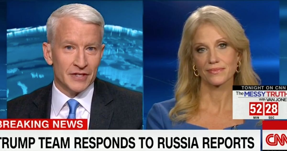Anderson Cooper, Kellyanne Conway Spar Over CNN's Report On Trump's Russian Ties