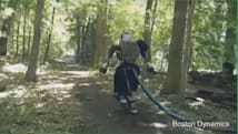 Humanoid bot goes for a walk in the woods, terrifies nature on the way