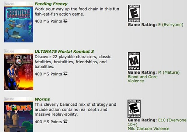 XBLA Hits adds Mortal Kombat 3, Worms, Feeding Frenzy