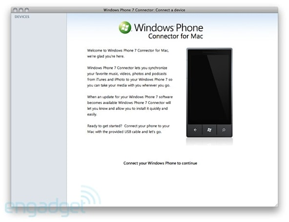 Windows Phone 7 Connector for Mac moves to public beta