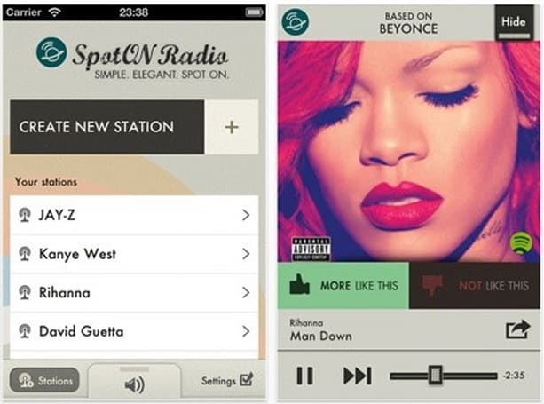 SpotON Radio app for iPhone out now