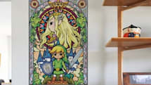 Wind Waker stained glass wall decals turn your home into a Legend of Zelda cathedral