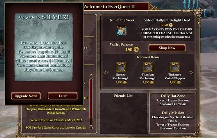 The Tattered Notebook: Learning from EQII's free-to-play model