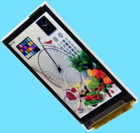 "Toshiba's ""world's slimmest"" 0.99-mm LCD for cellphones"