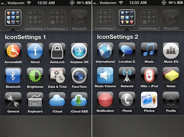 IconSettings gives you simple control of your iDevice without jailbreaking