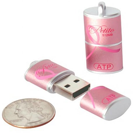 ATP's diminutive Petito USB flash drives help fight breast cancer