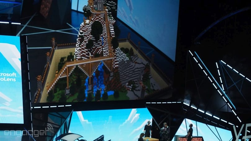 Microsoft shows off 'Minecraft' built specifically for HoloLens