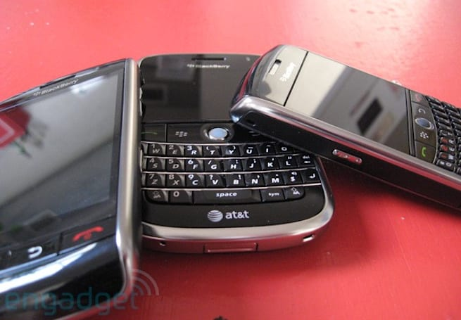 BlackBerry Blowout: Storm vs. Bold vs. Curve 8900