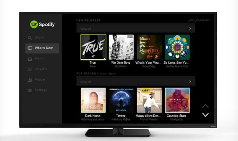 Spotify comes to (a few) Vizio smart TVs