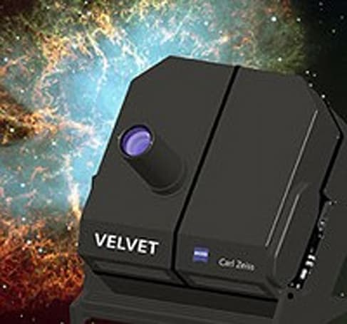 Carl Zeiss' powerdomeVELVET planetarium projector: 2,500,000:1 contrast ratio