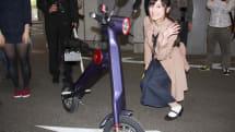 【動画】原付き未体験の女子を電動バイクに乗せてみた。UPQ BIKEのたたみ方、ウィンカーなど