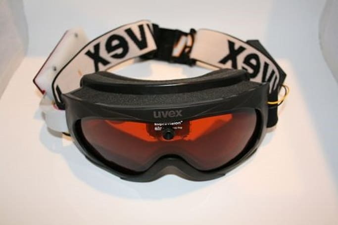 ATC3K action cam beautifully retrofitted into ski goggles