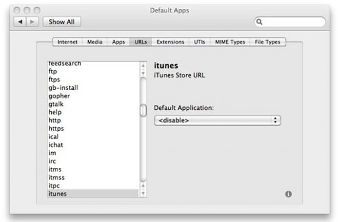 Prevent iTunes web previews from opening iTunes automatically