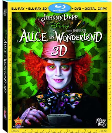 Alice in Wonderland Blu-ray 3D loosed from the bonds of exclusivity December 7