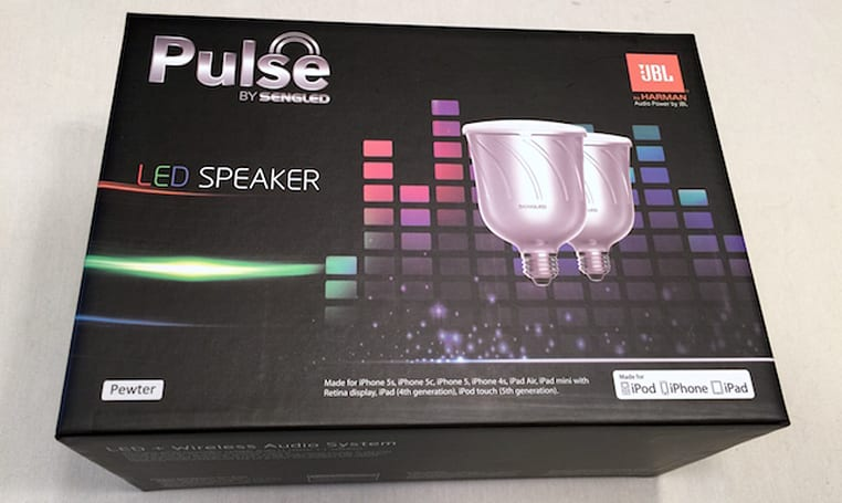 Pulse by Sengled: iOS-controllable LED lights, with speakers by JBL