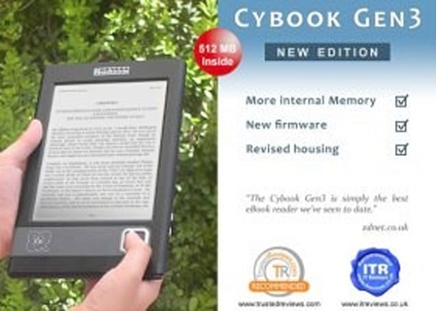 CyBook bumps Gen3 storage, revs firmware